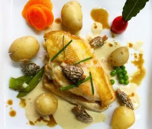 poulet sauce morilles